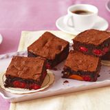 Himbeer-Aprikosen-Brownies