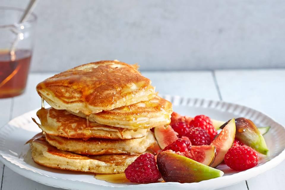 Pancakes mit Obst Rezept