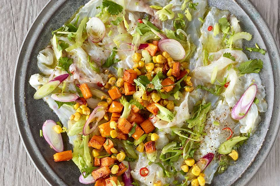 """Fisch-Carpaccio """"Ceviche Style"""" Rezept"""