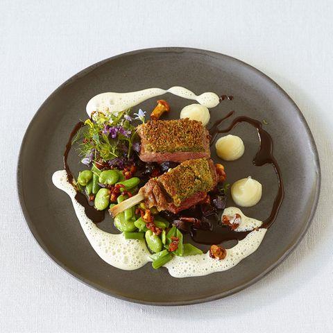 Birnen, Bohnen und Specksauce