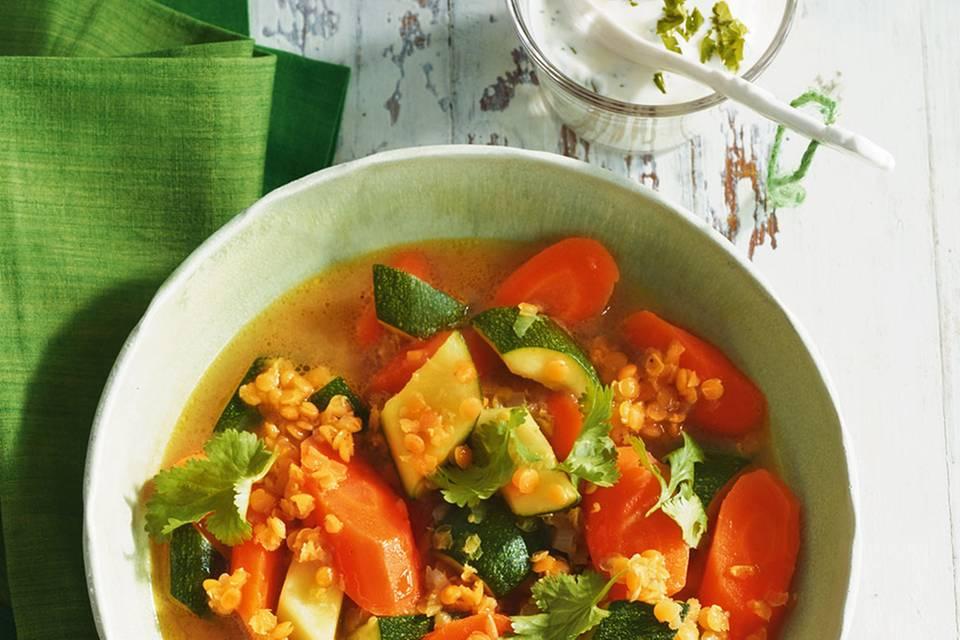 Linsen-Curry-Eintopf Rezept