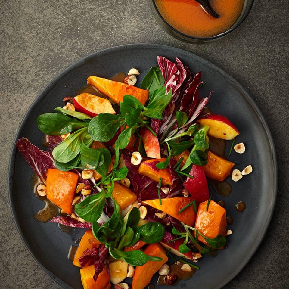 Kürbis-Apfel-Salat Rezept