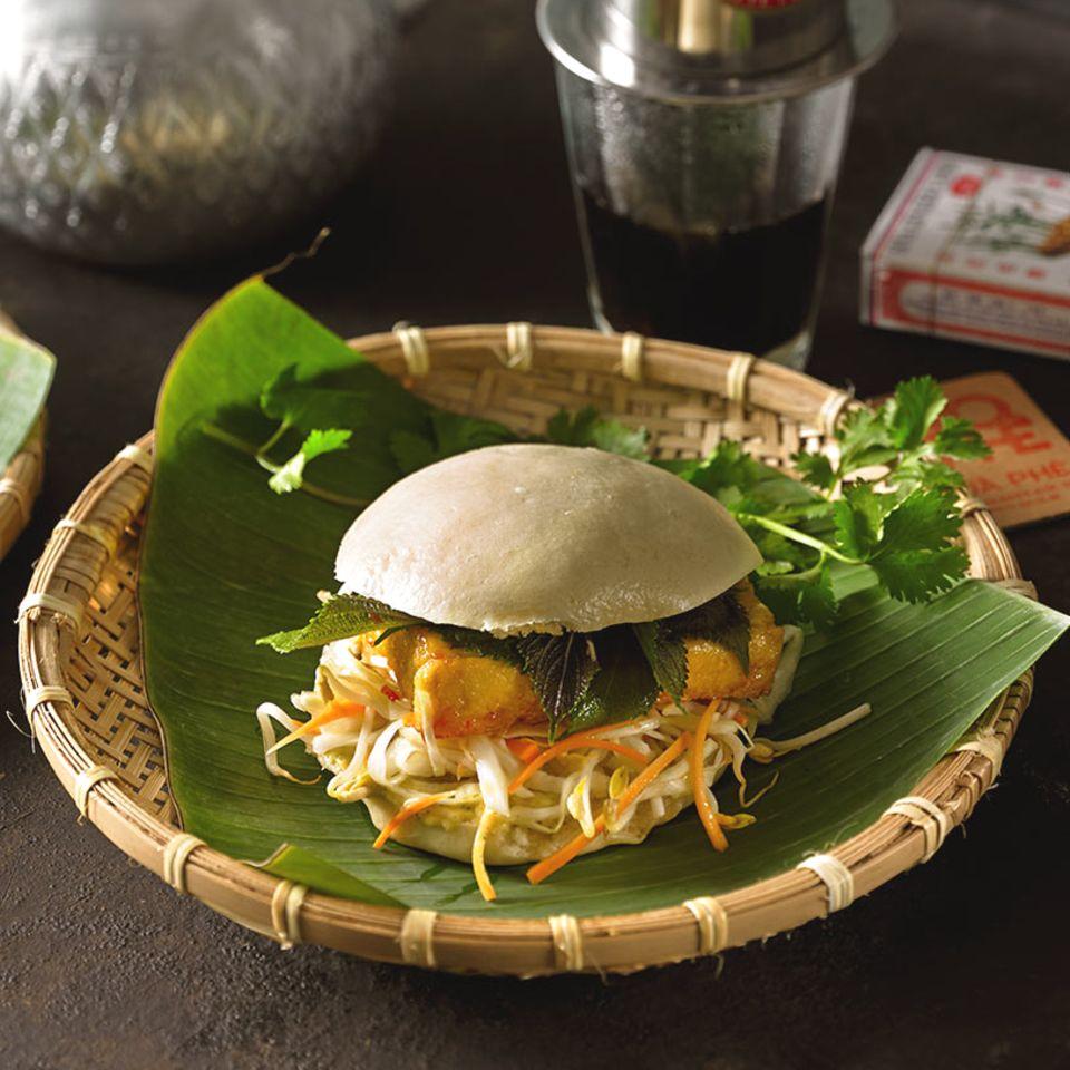 Bánh Bao mit Tofu gefüllt