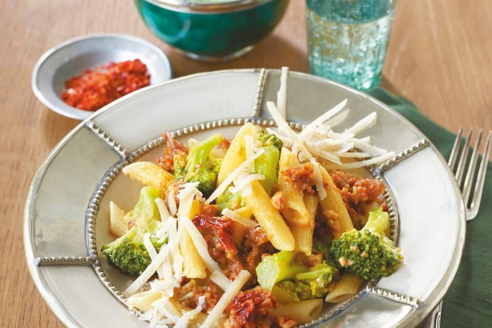 Pasta mit orientalischem Pesto Rezept