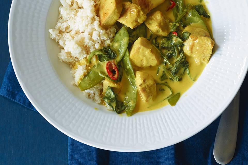 Hähnchencurry mit falschem Reis Rezept