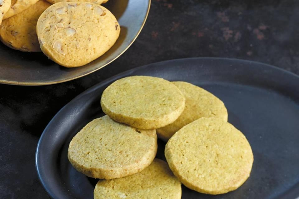 Matcha-Vanille-Kekse Rezept