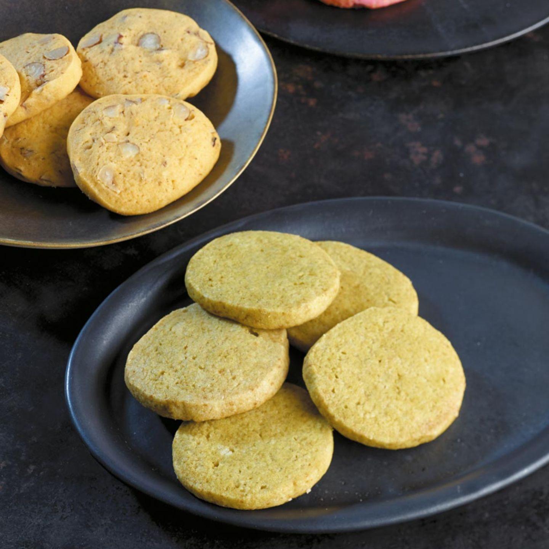 Matcha-Vanille-Kekse