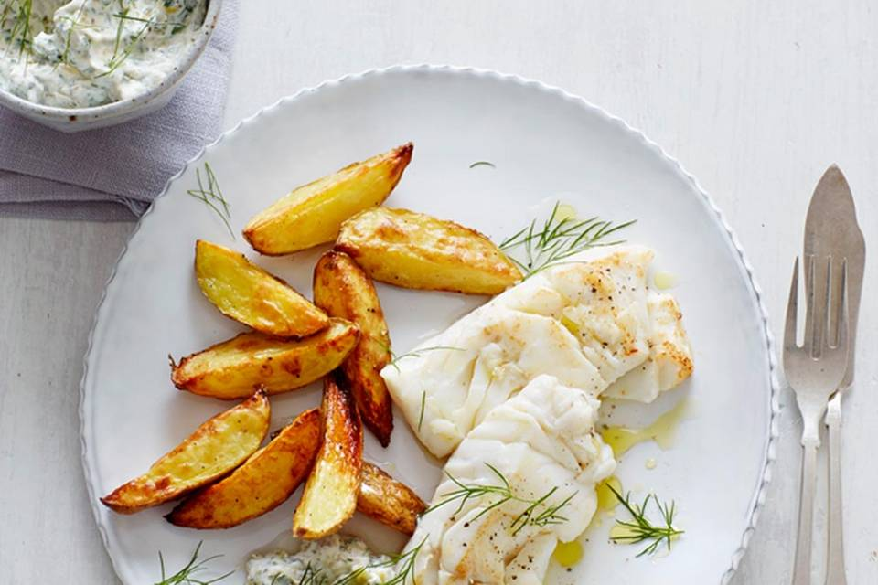 Dorsch mit Ofen-Pommes Rezept