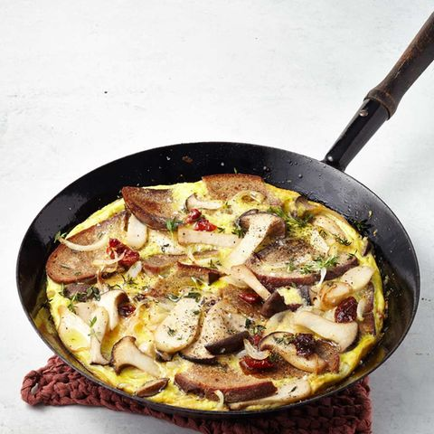 Brot-Omelette mit Pilzen