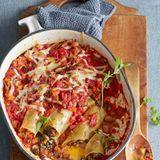 Bei diesen Cannelloni mit Kräuterseitlingen, Champignons und Scamorza kann keiner widerstehen!