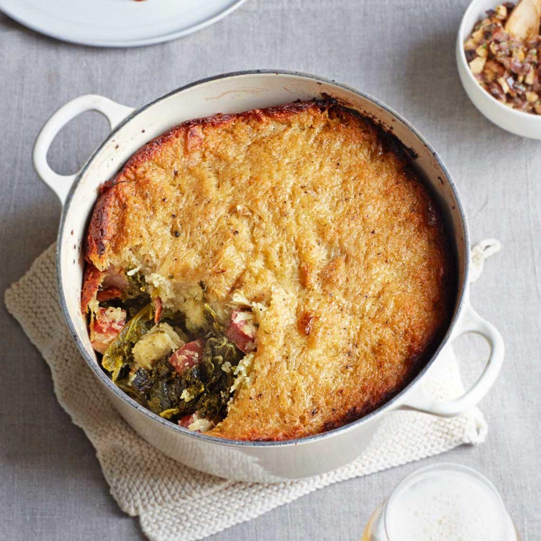 Grünkohl-Kartoffel-Kuchen