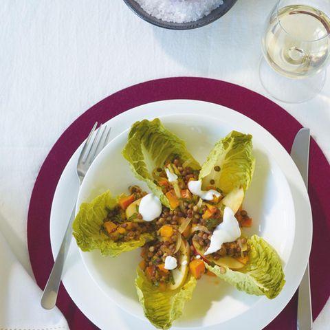 Linsen-Kürbis-Salat