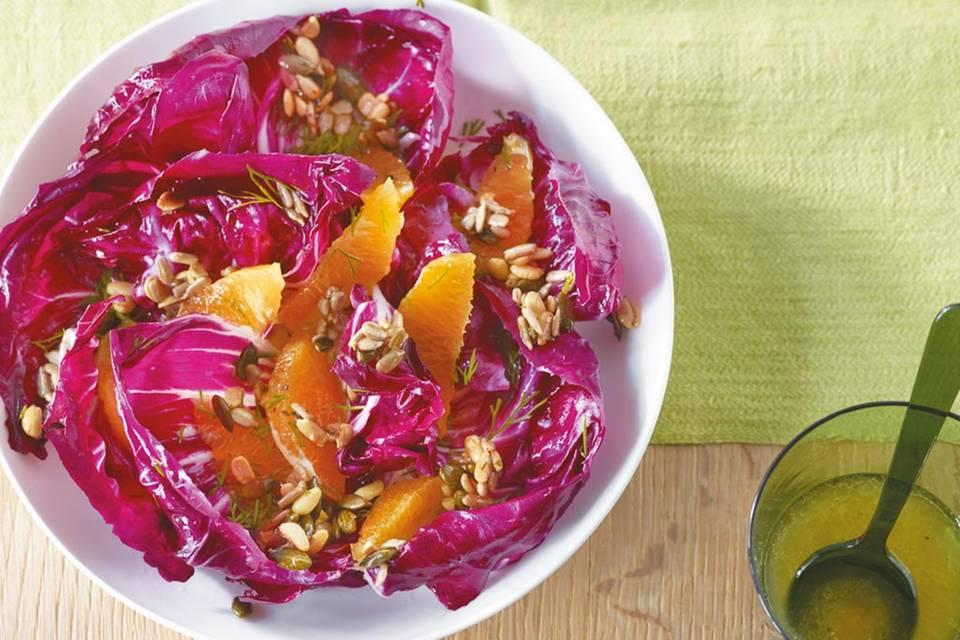 Radicchio-Salat mit Orangen Rezept