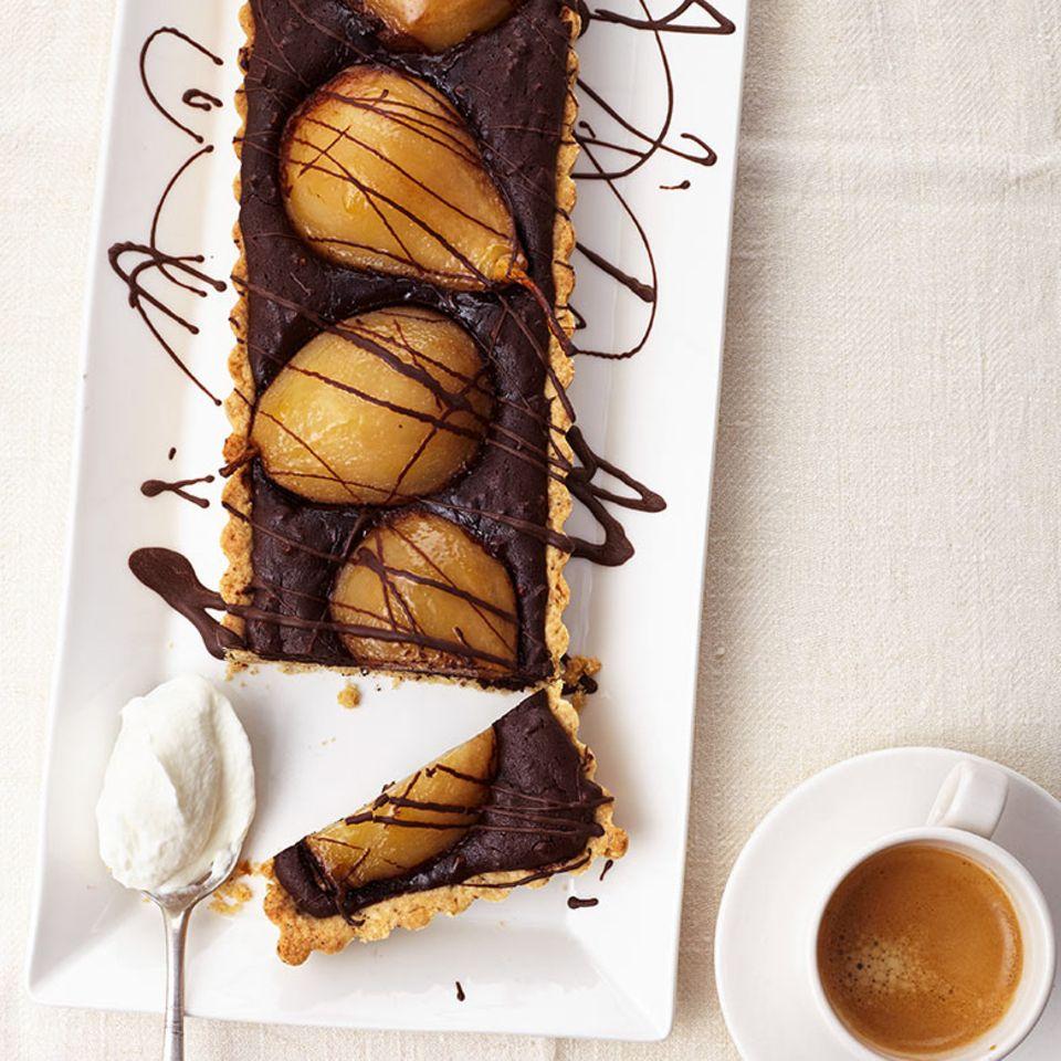 Birnen-Schokoladen-Tarte