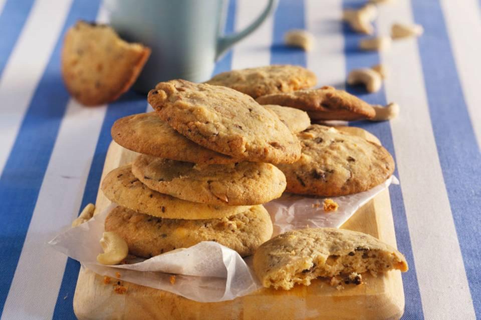 Schoko-Cashew-Cookies Rezept
