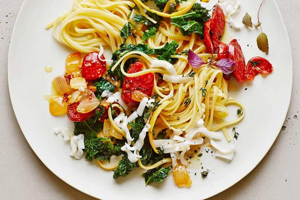 Linguine mit Grünkohl und Chorizo Rezept