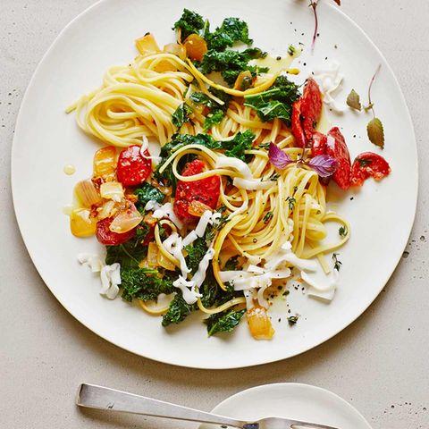 Linguine mit Grünkohl und Chorizo
