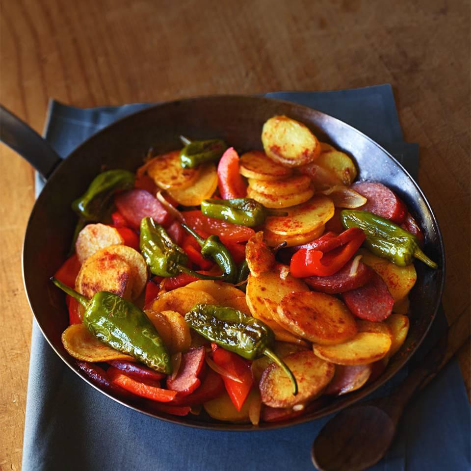 Kartoffel-Paprika-Pfanne Rezept