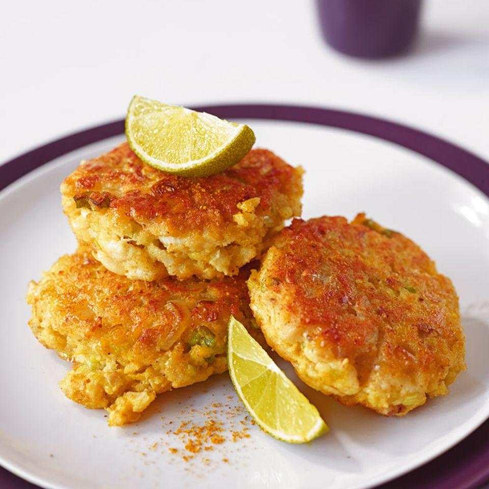 Curry-Fischfrikadellen