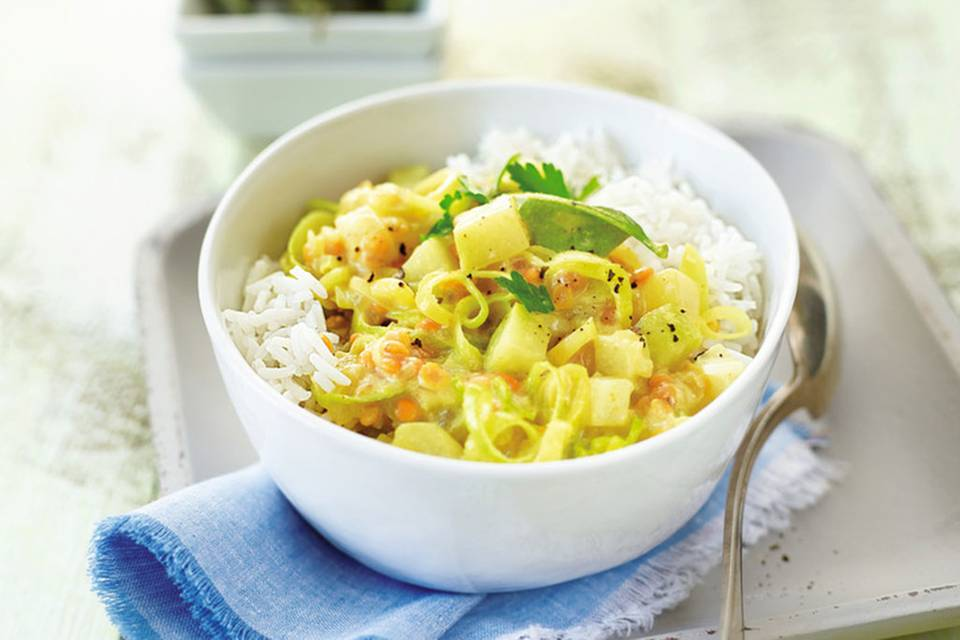 Kohlrabi-Linsen-Curry Rezept