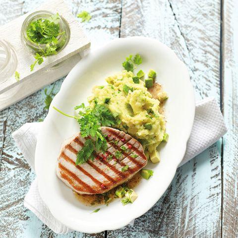 Thunfischsteak mit Kartoffelstampf