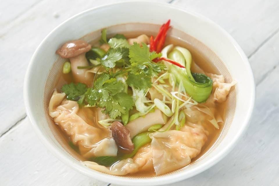 Garnelen-Wan-Tan-Suppe Rezept