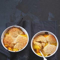 Kaki-Ananas-Cobbler