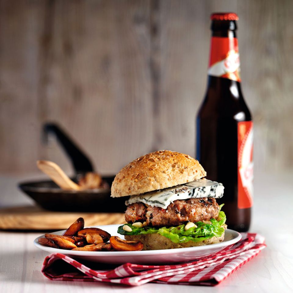 Buffalo-Ranch-Burger mit Marsala-Champignons
