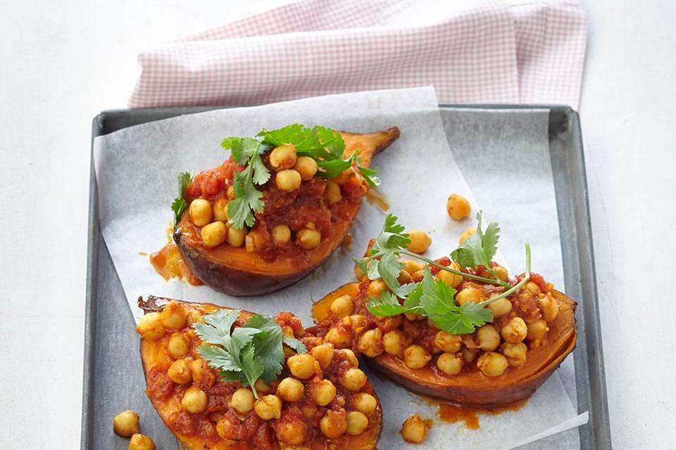 Süßkartoffel mit Kichererbsen-Curry Rezept