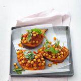 Süßkartoffel mit Kichererbsen-Curry