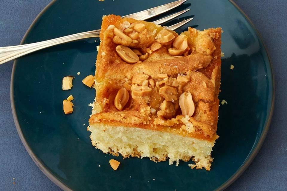 Butterkuchen mit Erdnuss Rezept