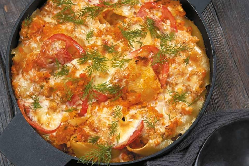 Gebackene Lachs-Pasta Rezept