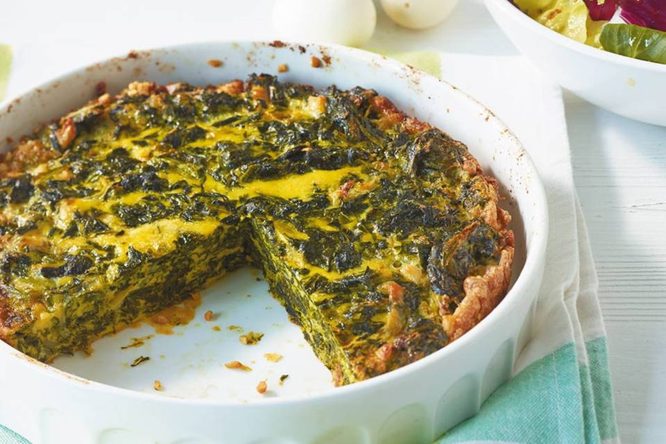 Spinat-Parmesan-Frittata Rezept