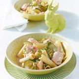 Lachs-Pasta mit Zucchini