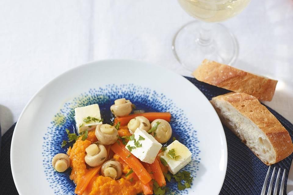 Möhren-Dip mit Feta Rezept