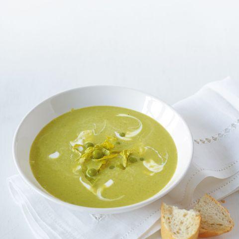 Erbsen-Salat-Cremesuppe