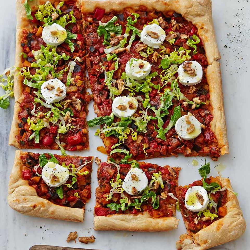 Pizza mit Ratatouille