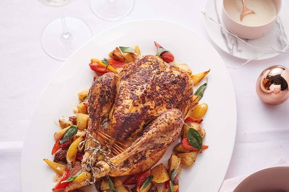 Kartoffel-Paprika-Gemüse und Spinat Rezept