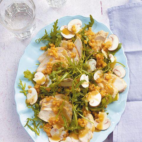 Raukesalat mit Hähnchen