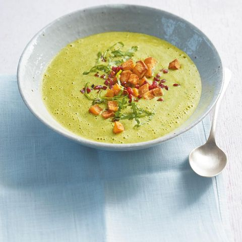 Bärlauch-Erbsen-Cremesuppe