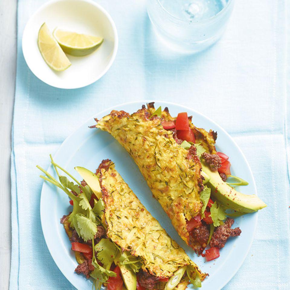 Gefüllte Zucchini-Tortillas