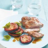 Gebackene Aubergine mit Steak