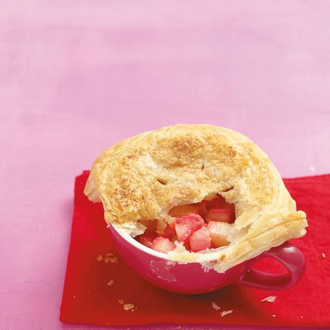 Rhabarber-Pie aus der Tasse
