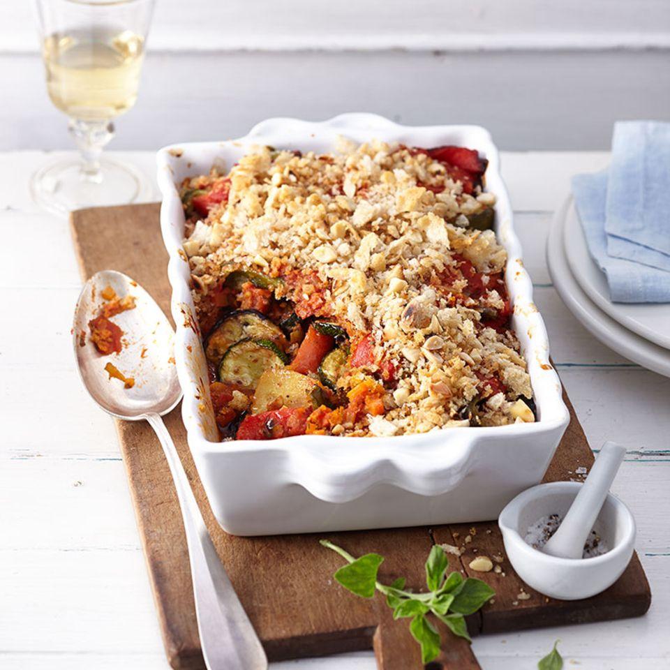 Mallorquinischer Gemüseauflauf (Tumbet) mit Sofrito