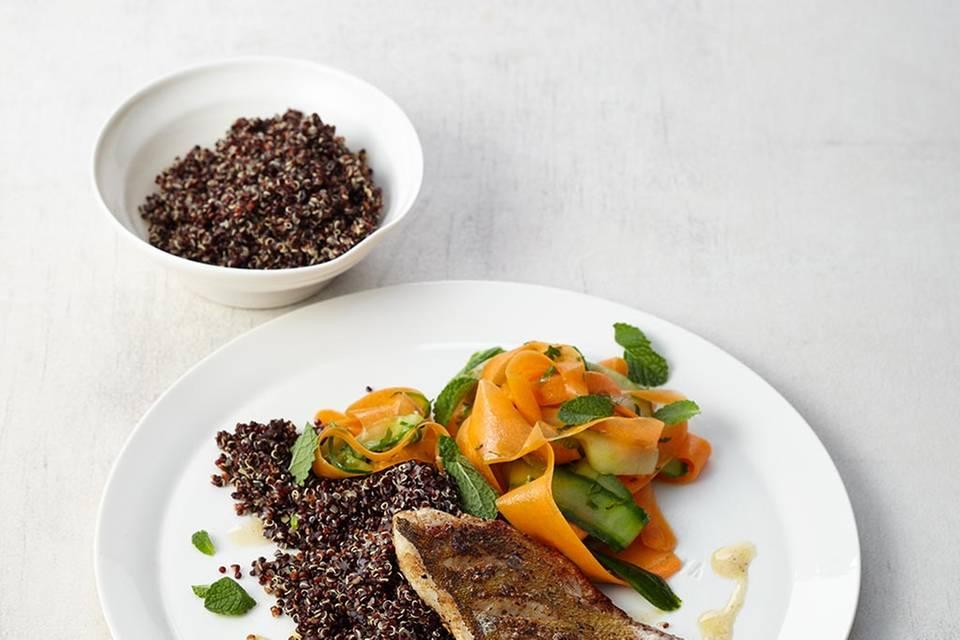 Zanderfilet mit Ingwer-Quinoa  Rezept