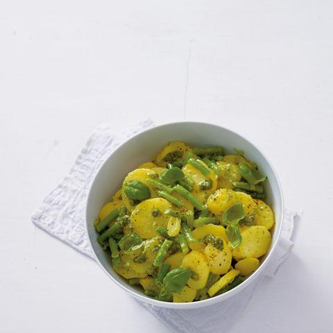 Kartoffelsalat mit Pesto und Bohnen