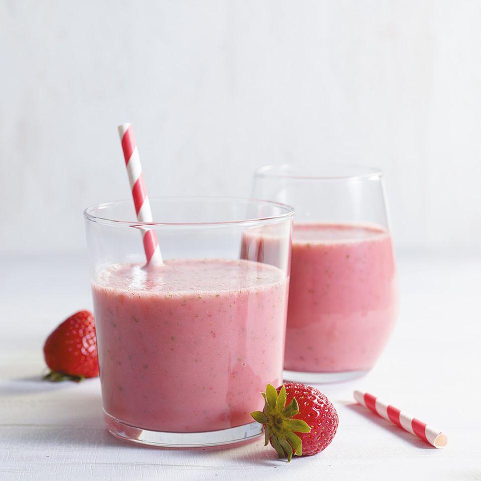Erdbeer-Minz- Smoothie