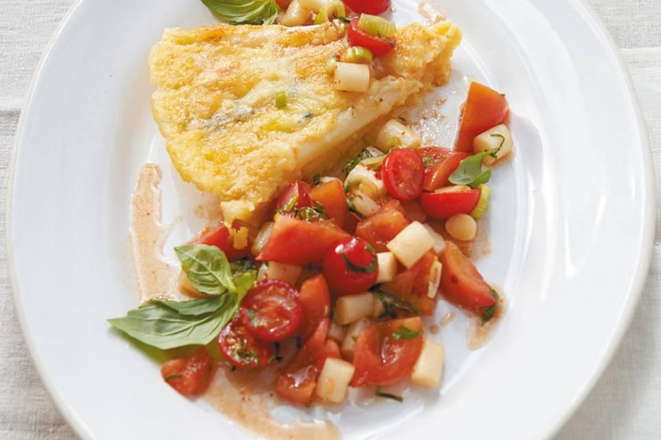 Spargel-Polenta-Tarte  Rezept