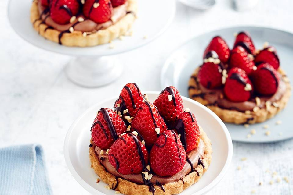 Erdbeer-Nougat-Tartelettes  Rezept