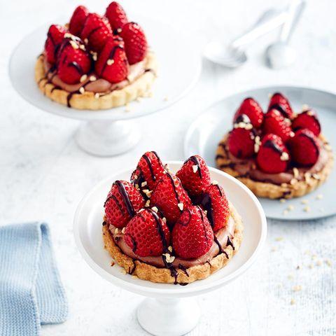 Erdbeer-Nougat-Tartelettes